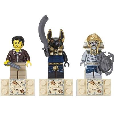 LEGO Pharaohs Quest Set #853168 Magnet Set Jake Raines, Anubis Warrior, Mummy Warrior: Toys & Games