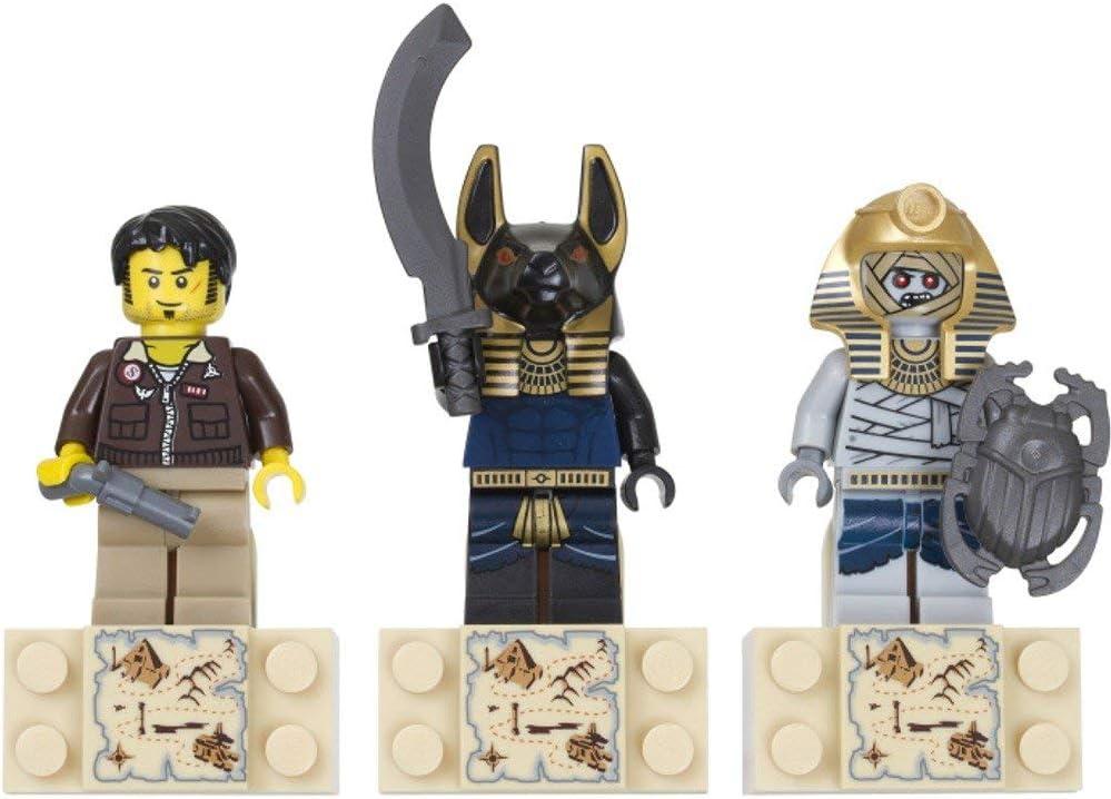LEGO Pharaohs Quest Set #853168 Magnet Set Jake Raines, Anubis Warrior, Mummy Warrior
