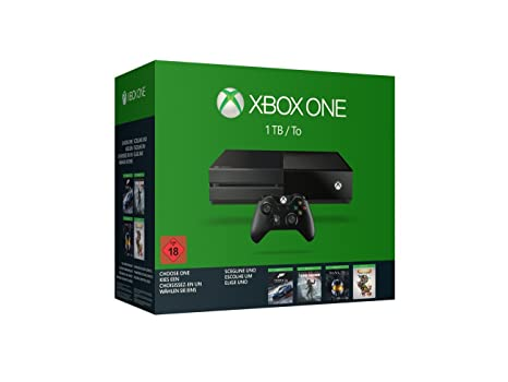 Xbox One 1TB Wähle dein Spiel Bundle (Rise of the Tomb Raider, Forza 6, Halo: MCC oder Rare Replay)