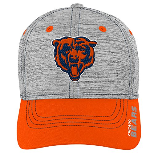 NFL by Outerstuff NFL Chicago Bears Youth Boys Velocity Structured Flex Hat Heather Grey, Youth One Size