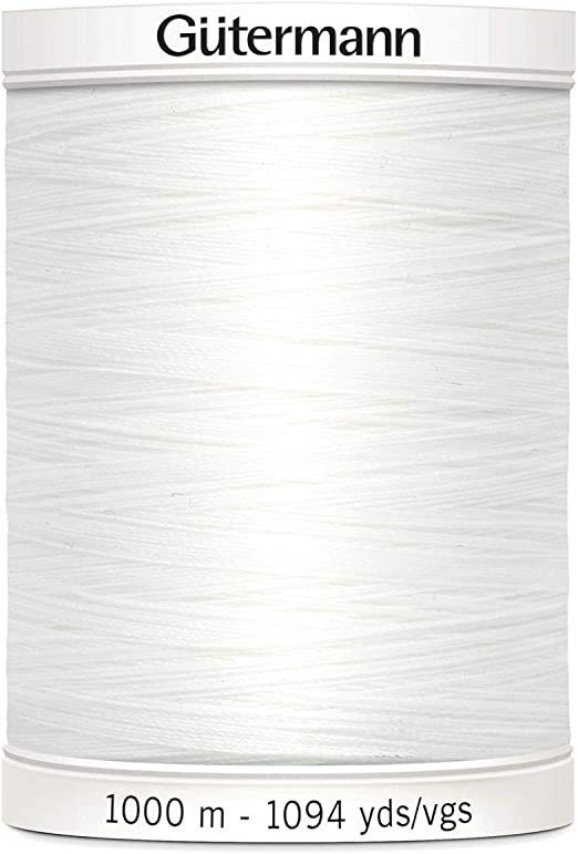 Cream 100/% Polyester White Black 1000m Gutermann Mara 100 Sewing Thread