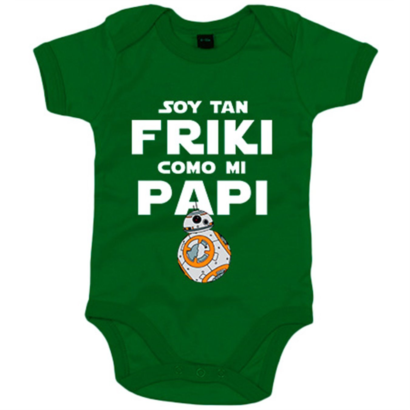 Body bebé Star Wars BB8 Soy tan friki como papi - Amarillo, 6-12 meses: Amazon.es: Bebé