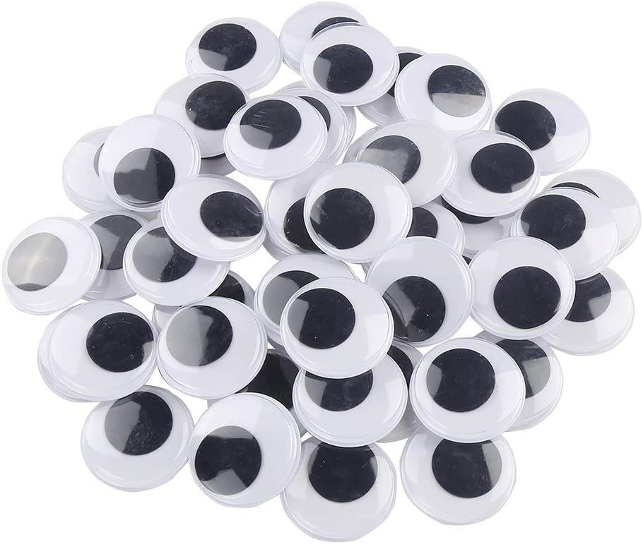 VEYLIN 1000Pcs Googly Wiggle Eyes Self Adhesive Black and White Colors Craft Wobbly Eyes for DIY Crafts and Scrapbooking