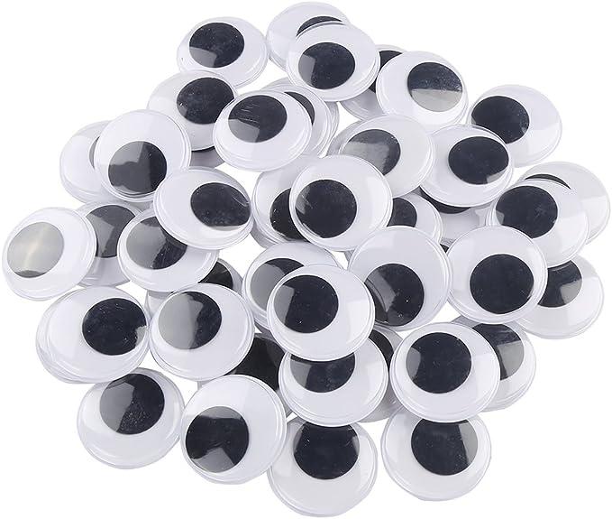 Euone Home DIY 500 Pcs Total Mixed Eyes Self Adhesive DIY Wiggle Googly Eyes Toy Doll Parts