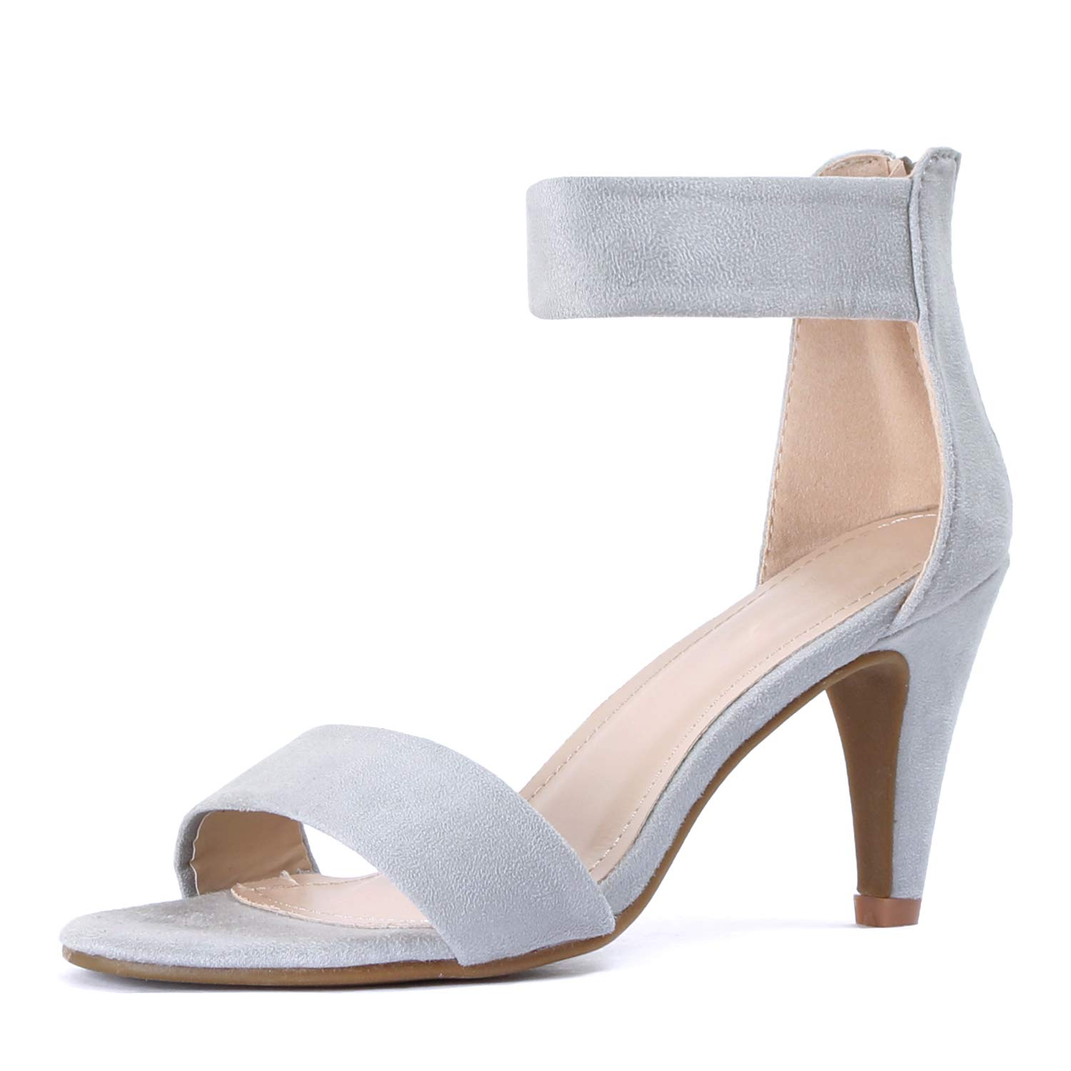 Guilty Shoes Women/'s Ankle Strap Open Toe Comfortable High Heels Dress Wedding Party Heeled Sandals