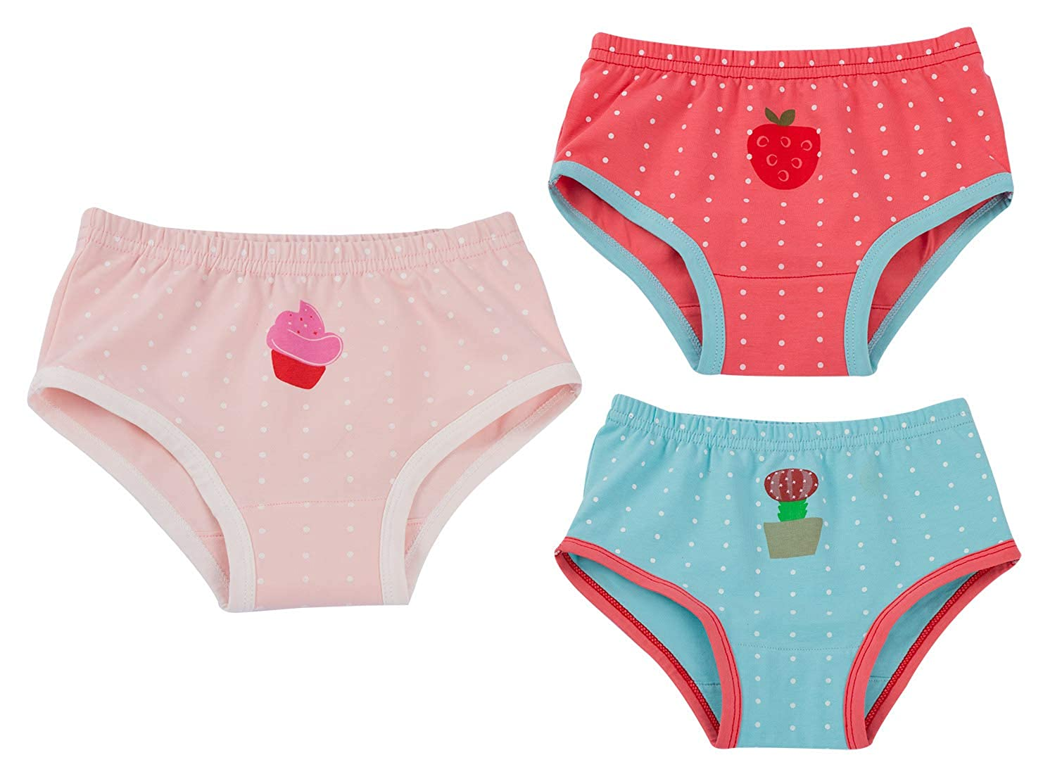 Joyo roy Unisex Baby Potty Training Undies Cotton Strawberry Diaper Pants Pack of 3 H101FLL0023-24