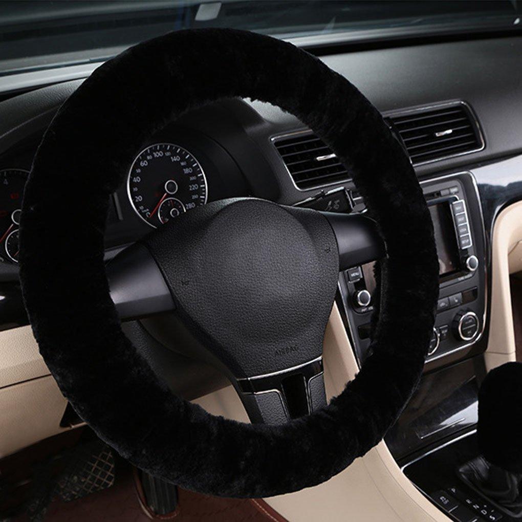 LONTG Housse de Volant Voiture Universel Couvre Volant en Peluche Souple Anti-d/érapant Cache de Volant Elastique Confortable Couverture Protecteur de V/éhicule Chaud Convenable pour Automne Hiver