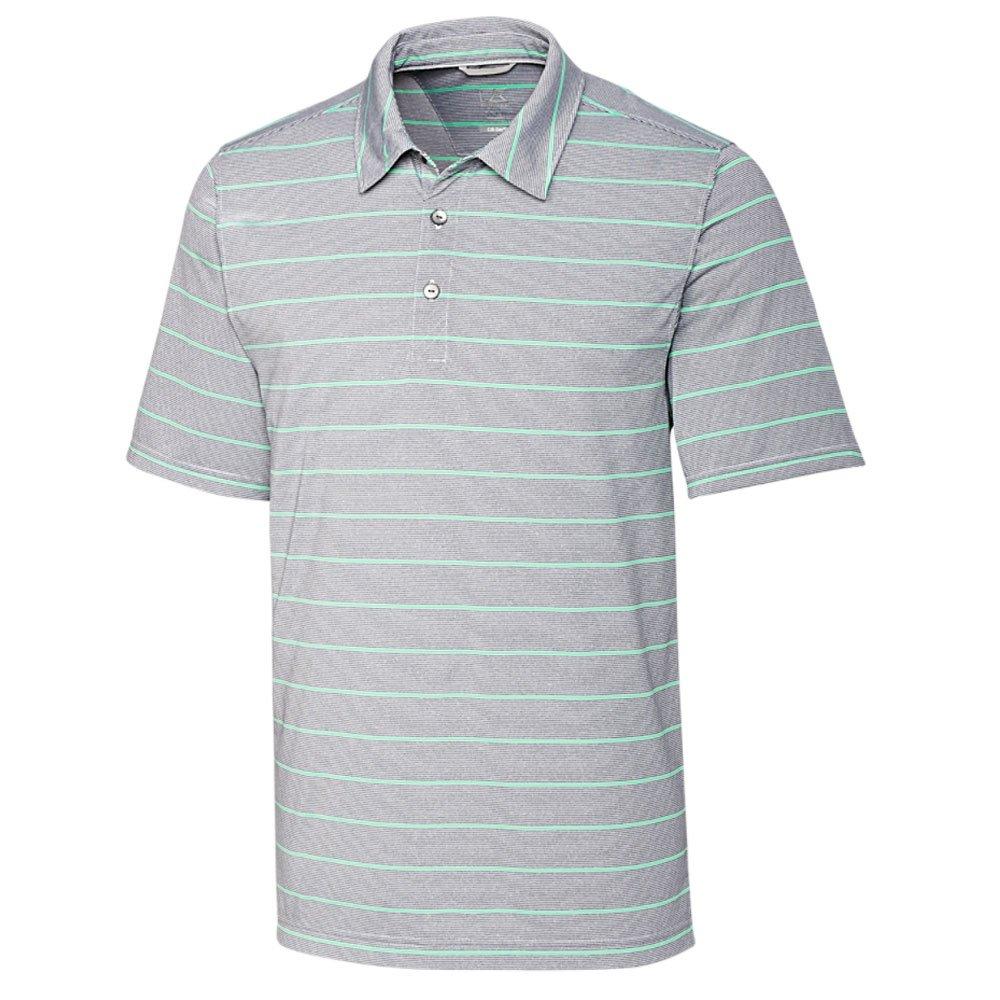 カッター&バック ピボット ストライプ 半袖ポロシャツ B07572738F Large|Rio/Oxide Rio/Oxide Large