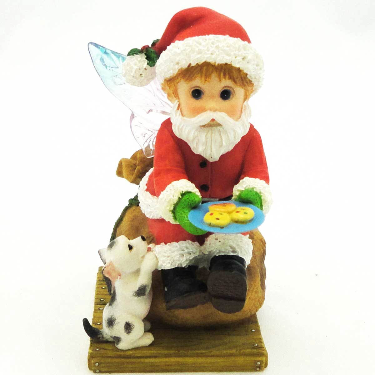 Enesco My Little Kitchen Fairies Santa Fairie Figurine, 3-3 4-Inch