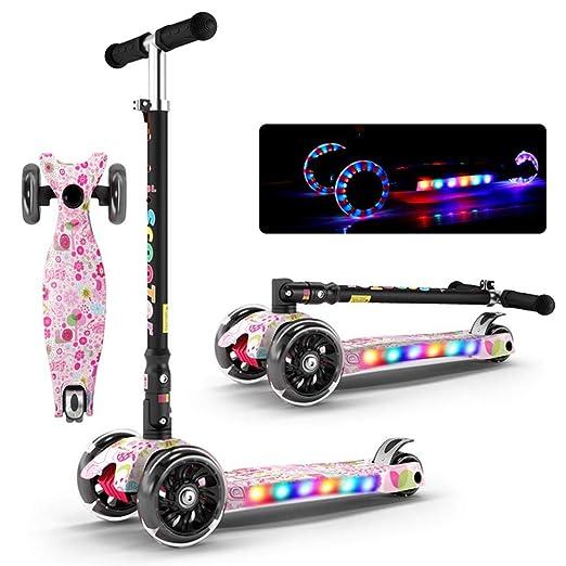 Patinete plegable con tres ruedas y scooters multifunción ...