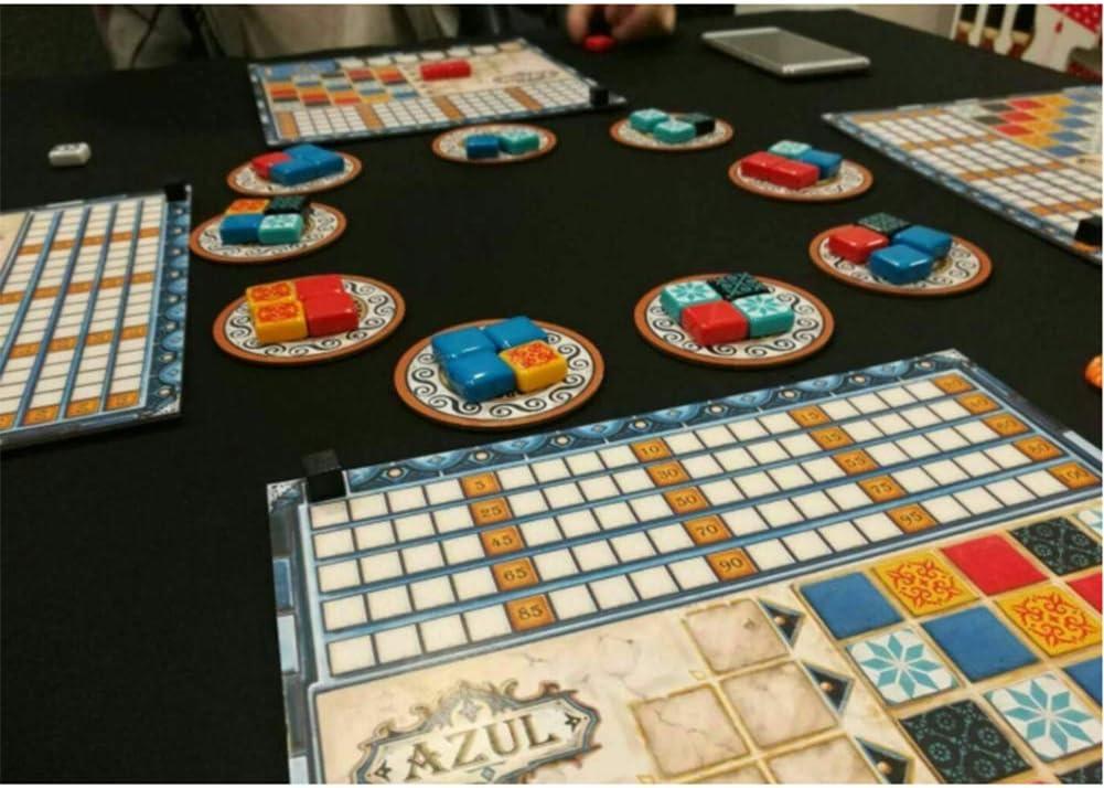 Partido Estrategia Juegos de Mesa Azul Color de los Azulejos de cerámica (Portugal vitral) - Juego de Interior Juguetes Gadget, Regalos para la Familia Amigos Hombres Mujeres Niños, 2 a 4 Jugadores: