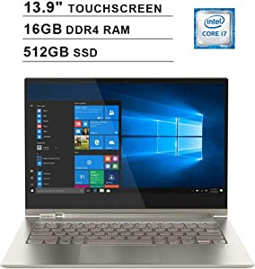 2020 Lenovo Yoga C930 2-in-1 13.9 Inch 4K Ultra HD Touchscreen Laptop (Intel Core i7-8550U, Quad Cores, 16GB DDR4 RAM, 512GB SSD, Backlit Keyboard, WiFi, Bluetooth, HDMI, Windows 10 Home) (Mica)