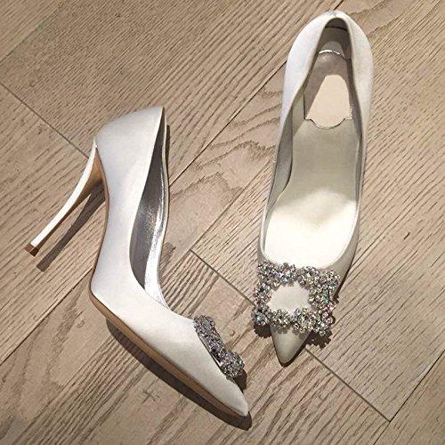 Zapatos Con Punta Ranurados De Mujer Baotou Agua Hueca Sandalias Alumnos Para Pajarita De De Blanco10cm Perforación Mujeres De Verano GAOLIM Las 7TqXfzq