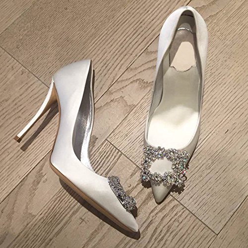 Para Zapatos Pajarita Ranurados De Hueca Las GAOLIM Perforación Blanco10cm Punta Con Sandalias Baotou De De Agua Mujeres Mujer Alumnos De Verano q4OpTx