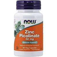 Now Foods Zinc Picolinate, 50 mg 60 Veg Capsules