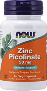 Now Foods Zinc Picolinate Veg Capsules 50mg, 60count