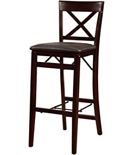 High Quality Linon Triena X Back Folding Bar Stool