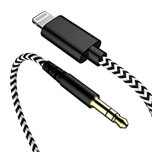 Headphone Aux Adapter Cord 6.6ft for Apple MFi Certified Lightning to 3.5 mm Headphone Jack Converter Male Car Aux Stereo Audio Cable Compatible With iPhone SE 11 Pro X Xr Xs Max iPhone 7 7P 8 8P Plus