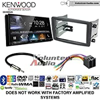 Volunteer Audio Kenwood DDX9904S Double Din Radio Install Kit with Apple CarPlay Android Auto Bluetooth Fits 2001-2004 Mercedes C Series