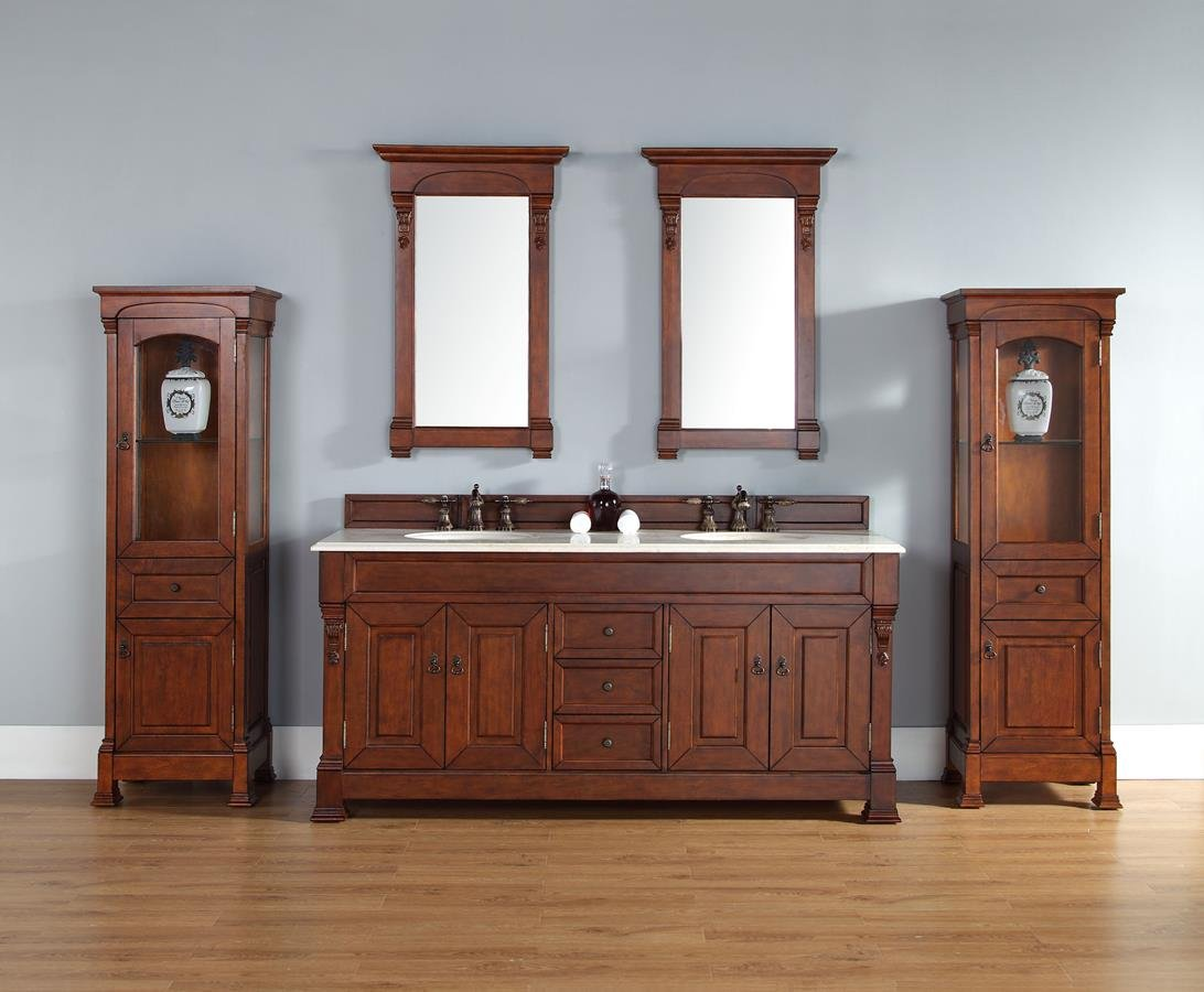 Double Cabinet In Warm Cherry Finish: Home Improvement