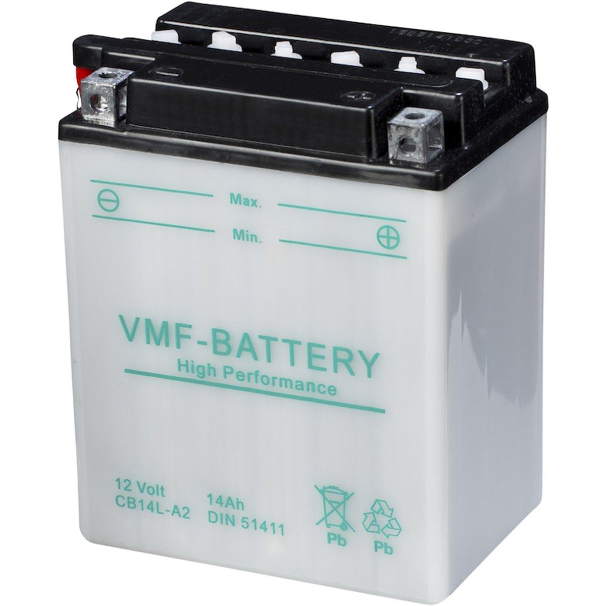 Bater/ía para moto VMF Powersport YB14L-A2 12V 14Ah