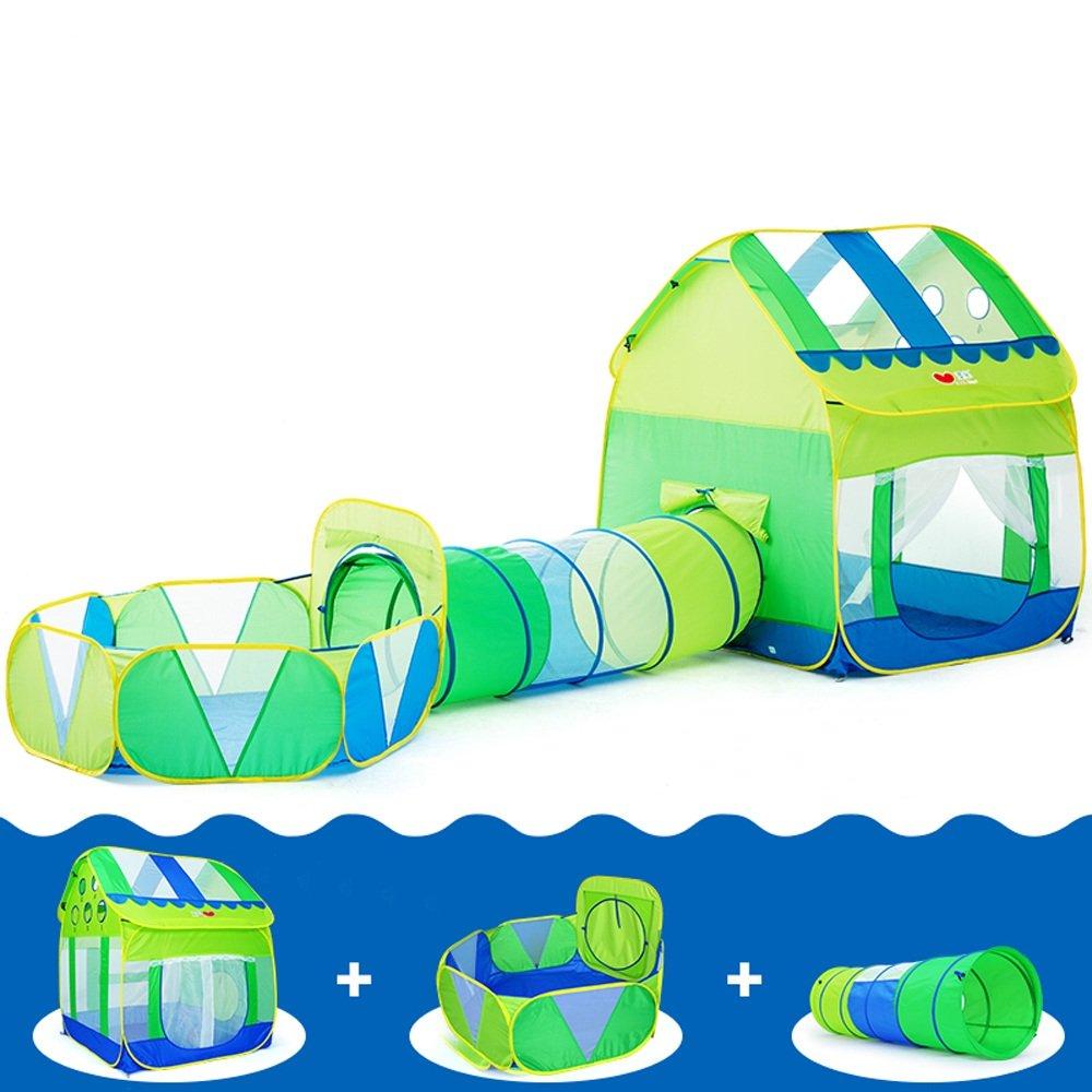 Promoción por tiempo limitado Wadwo Pop-up Tienda de campaña de los niños, Azul y Verde Modelado Ocean Ball Casa Tendas Transpirables Interior y Exterior Juguetes Big Tent (no Incluye Ocean Ball) -by Virtper (Tamaño : D)