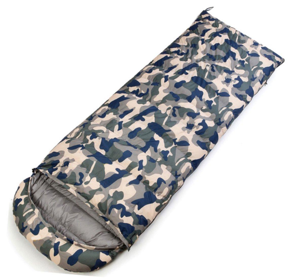 Yeying123 Daunenschlafsack Outdoor Erwachsenen Ultra Licht Innen Dick Warm Kann Doppel Camping Mittagspause Camouflage Schlafsack Kämpfen