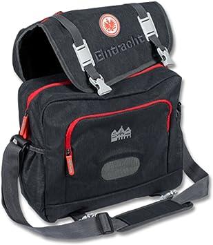 Umhängetasche SGE Tasche Eintracht Frankfurt Messenger Bag Logo schwarz plus