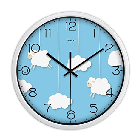 COCO Mute Relojes y relojes Reloj de pared Sala de estar Reloj moderno creativo Reloj de