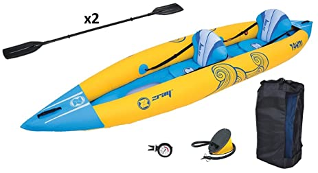Z Ray Tahiti 2 Person Inflatable Kayak Set With Pump