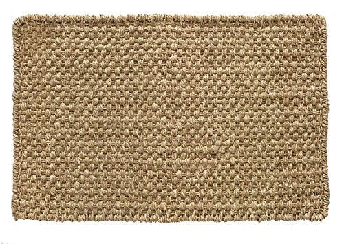 HF by LT Boho Market Ella Basketweave 100% Seagrass Doormat, 18