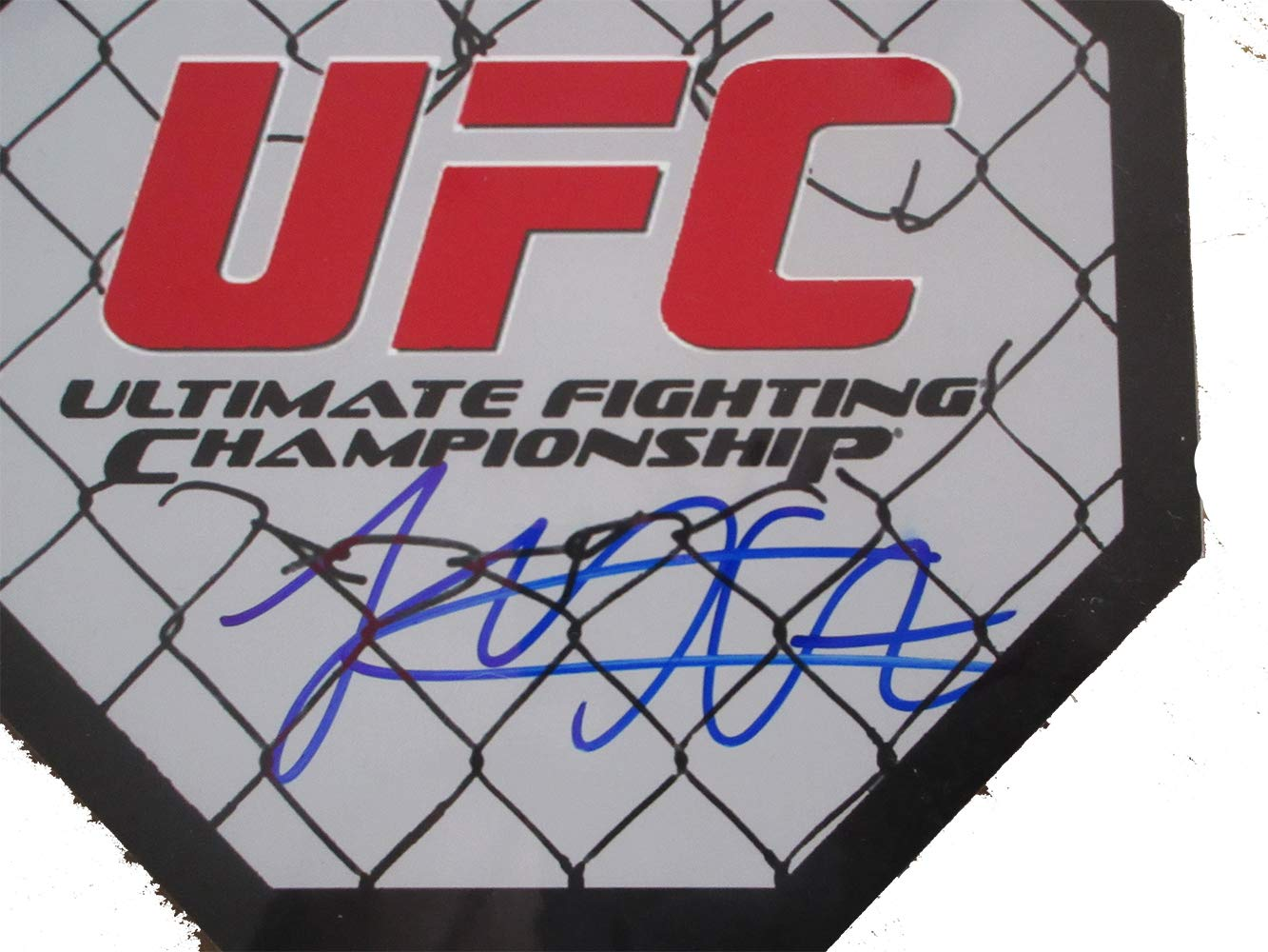 Khabib Nurmagomedov Autographed UFC 8x8 UFC Octagon W/PROOF, Picture of Khabib Signing For Us, Ultimate Fighting Championship, UFC, Sherdog, 26 0, Undefeated, Conor McGregor