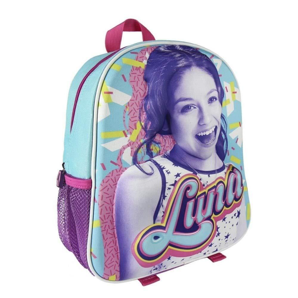 TrAdE shop Traesio- Mochila Soy Luna con Relieve 3D Niñas Escolar elementales Maternal: Amazon.es: Electrónica
