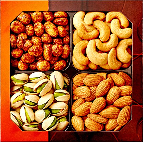 Gourmet Food Nuts Gift Basket, 4...