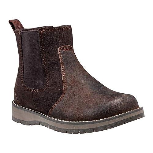 Timberland - Botas Chelsea Unisex, para niños, Color marrón, Talla 39.5 EU