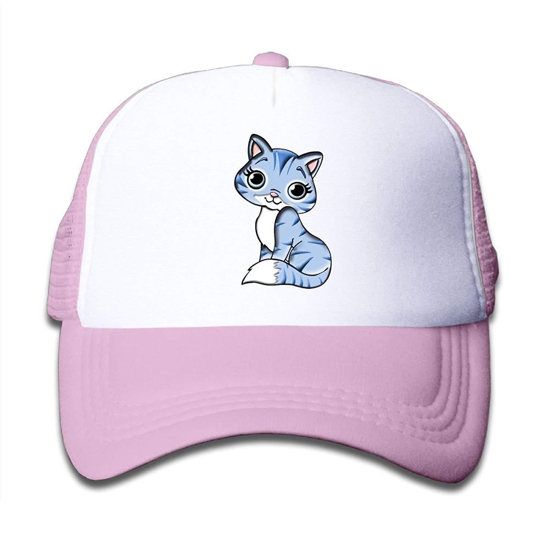 FEAIYEA Mesh Baseball Cap Boy/&Girls Youth Snapback Hats Kitty Cute