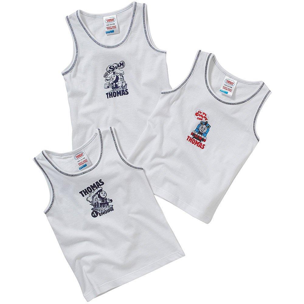 Thomas & Friends Boys Back to School 3 Pack Cotton Vests