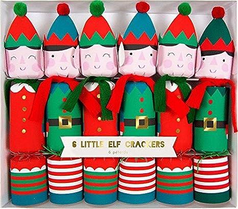 meri meri set of 6 little elf christmas crackers 45 1900