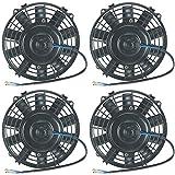 "American Volt Quad 6"" Inch Electric Fans 12v Atv Suzuki Polaris Water Oil Cooler Fan Offroad"
