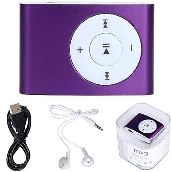 Junshion - Mini Reproductor de MP3 con Tarjeta Micro SD TF ...