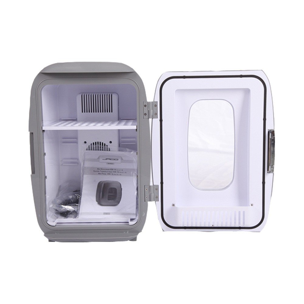 Portable Electronic Mini Fridge (16L/17 Can Grey) Compact Fridge, (Ship from US) Thermoelectric Cooler and Warmer,Car Refrigerator,Mini Refrigerater for Home,Car, RV,Bedroom,Office,Dorm