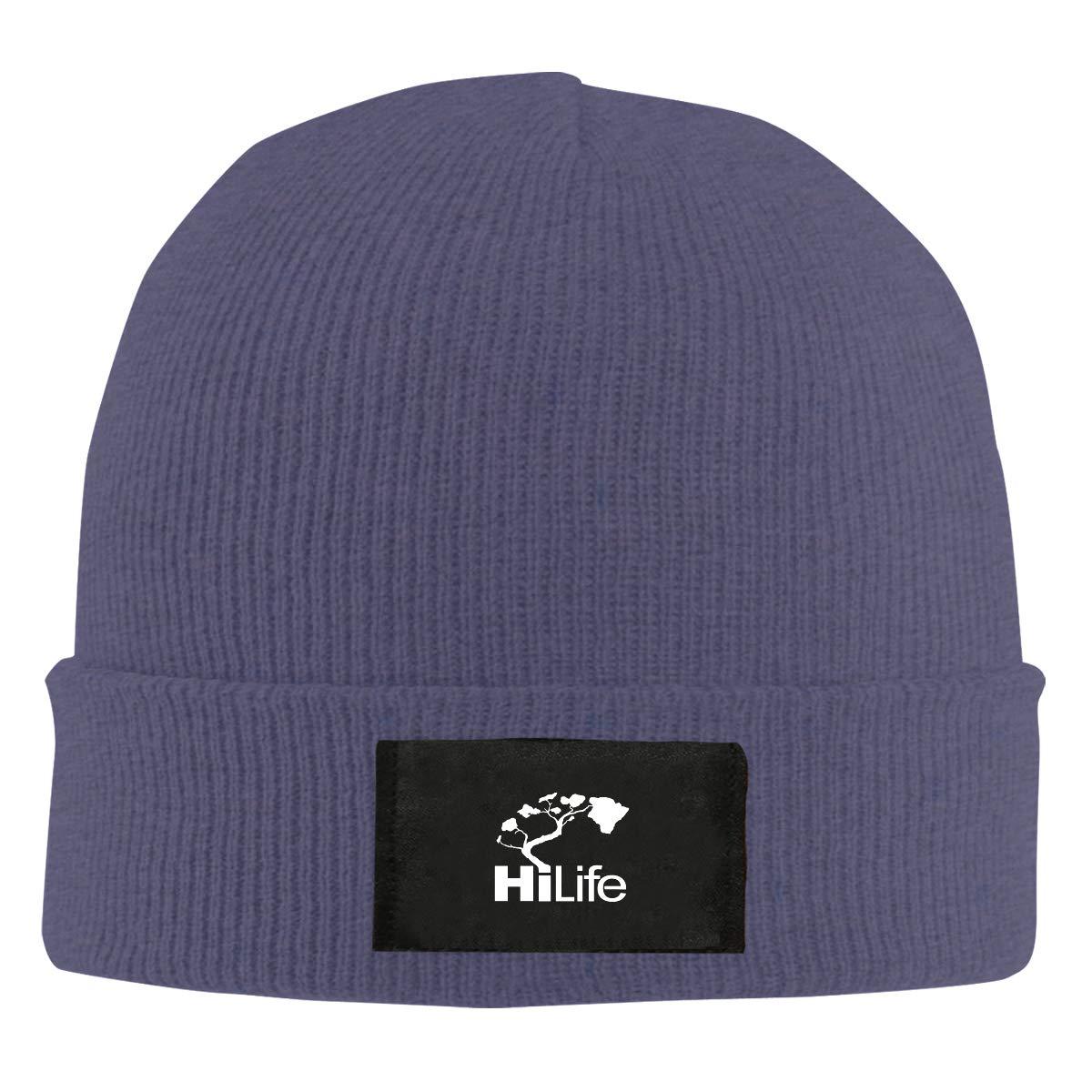 LRHUI Hi Hawaii Winter Knitted Hat Warm Wool Skull Beanie Cap