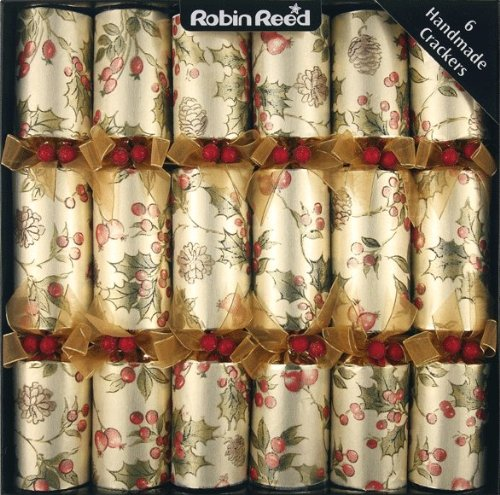 Christmas Tablescape Decor - Elegant Robin Reed Merry Holly Berry Christmas Crackers