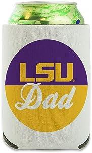LSU Dad Can Cooler - Drink Sleeve Hugger Collapsible Insulator - Beverage Insulated Holder