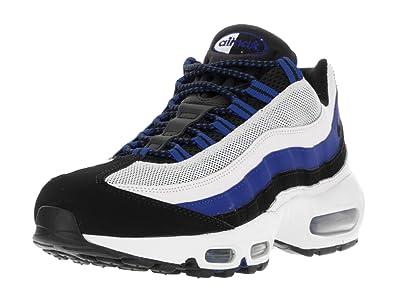 Nike Men s Air Max 95 Essential Running Shoe Game Royal Blk White Pr ... c45288b7c