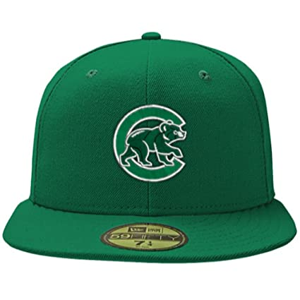 68a723ee8 Amazon.com : Chicago Cubs 59Fifty St. Patrick's Day Green Hat by New Era :  Sports & Outdoors