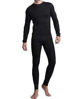 04c14e4202bf Amerian Causal Long Johns for Men, Soft Cotton Shirt/Pants 2PC Fleece  Thermal Set
