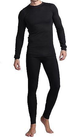 American Casual Long Johns para hombres, suave camisa/pantalones ...