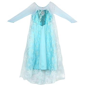 Amazon.com: Disfraz de Elsa Snow de Jin para niña, disfraz ...