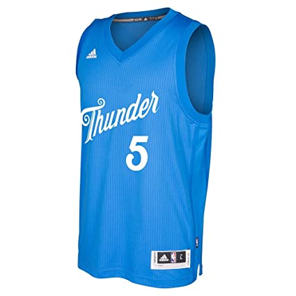 b60dba69a Victor Oladipo Oklahoma City Thunder NBA Adidas Men s Blue 2016 Christmas  Day Swingman Climacool Jersey (